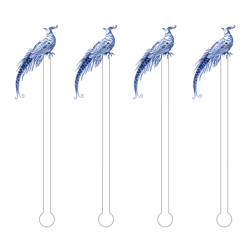 BLUE PHEASANT ACRYLIC STIR STICKS