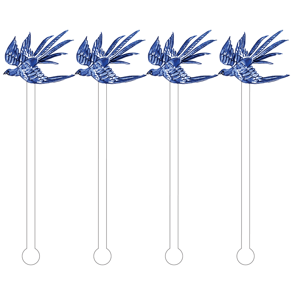 BLUE SPARROW ACRYLIC STIR STICKS