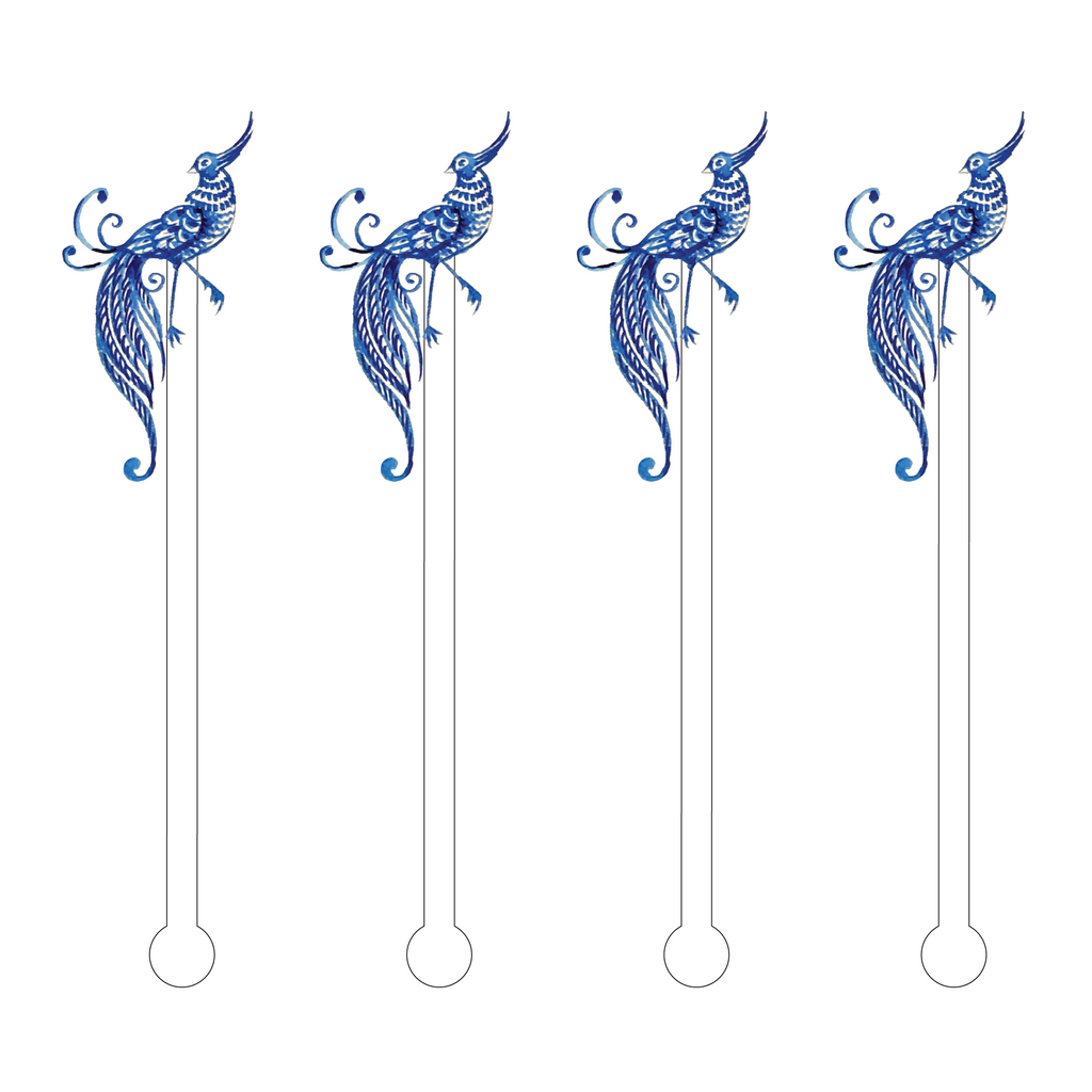 BAILEY BLUE BIRD ACRYLIC STIR STICKS