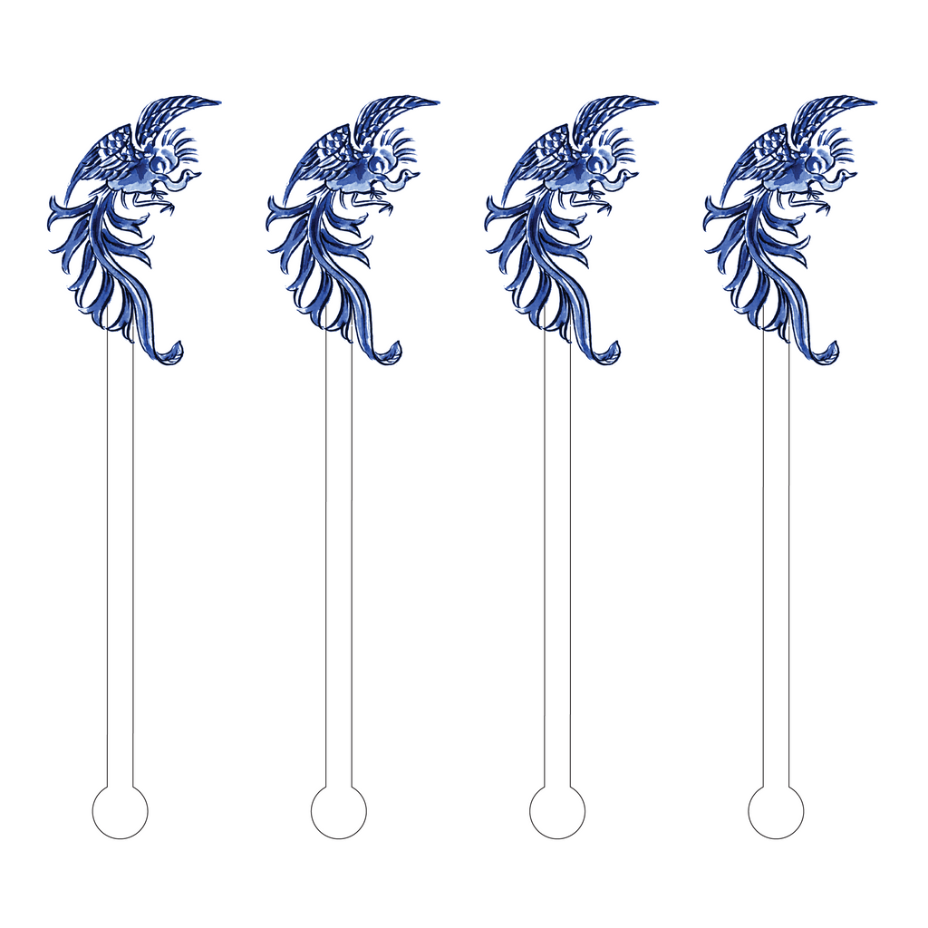 PORTIA BLUE BIRD ACRYLIC STIR STICKS