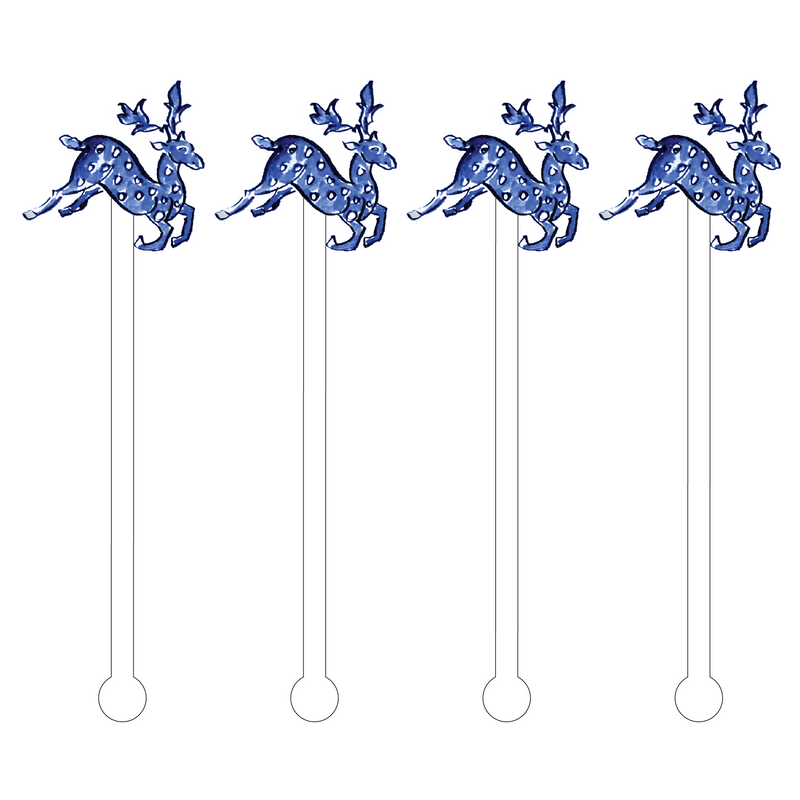 BLUE GAZELLE ACRYLIC STIR STICKS