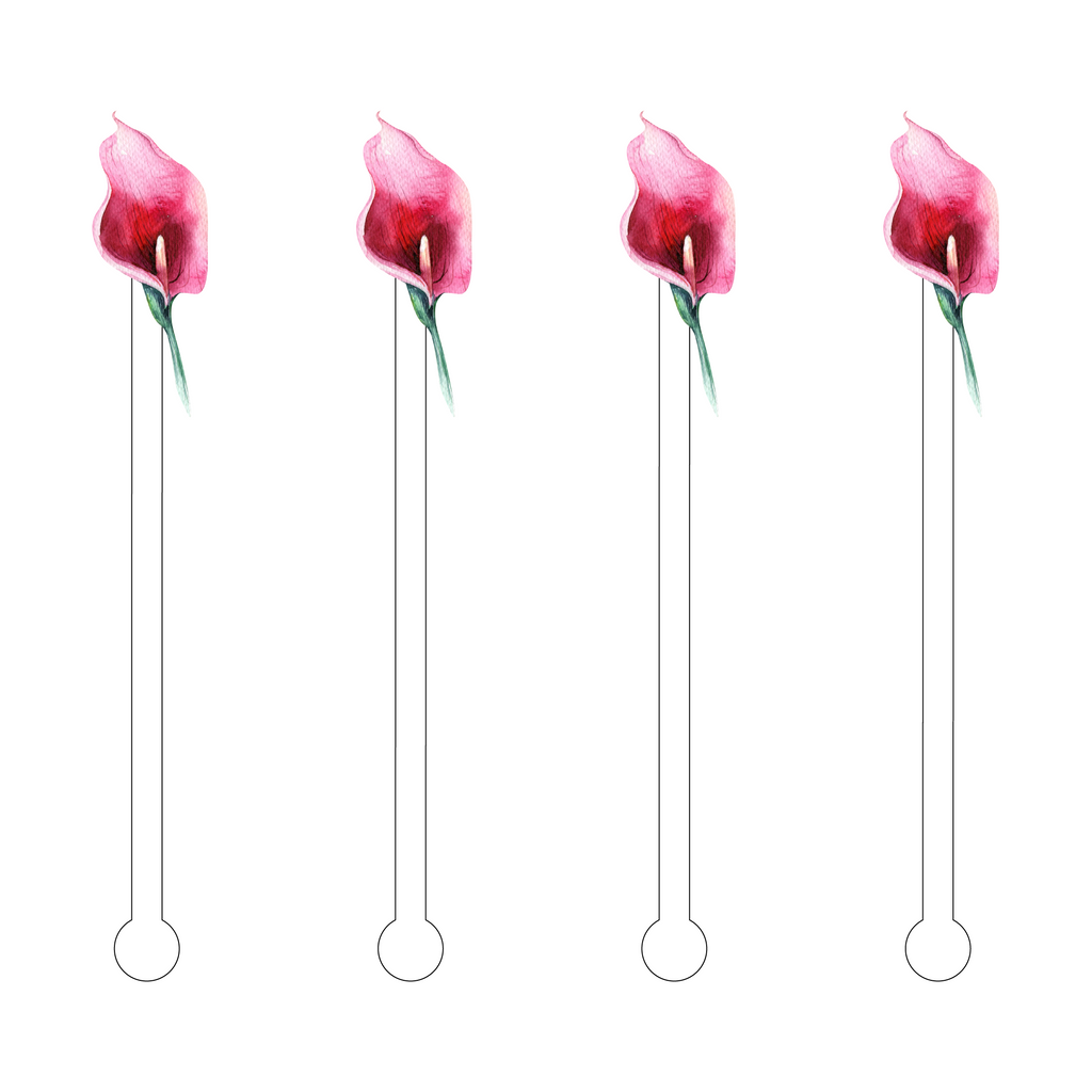 CALLA LILY ACRYLIC STIR STICKS