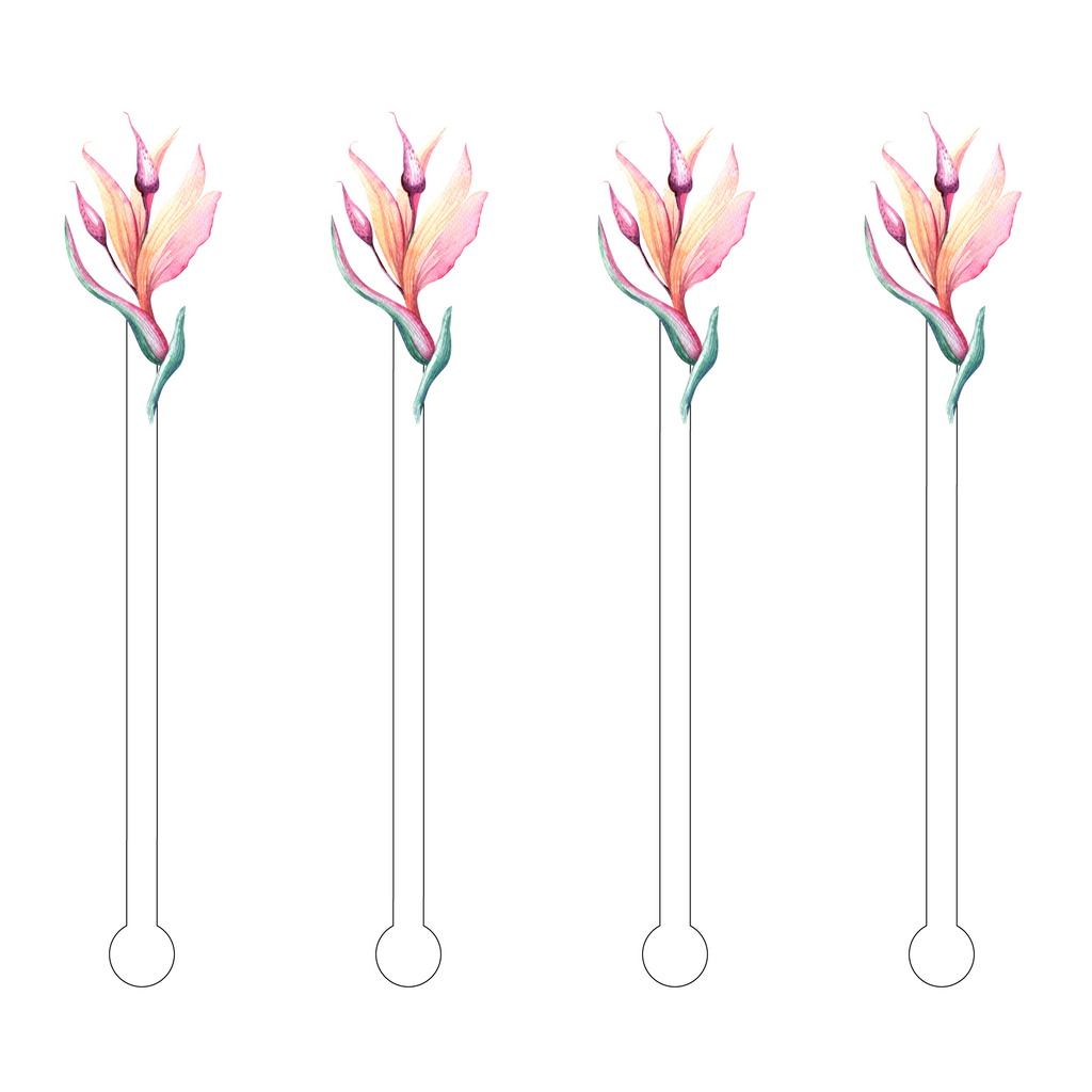BIRDS OF PARADISE ACRYLIC STIR STICKS