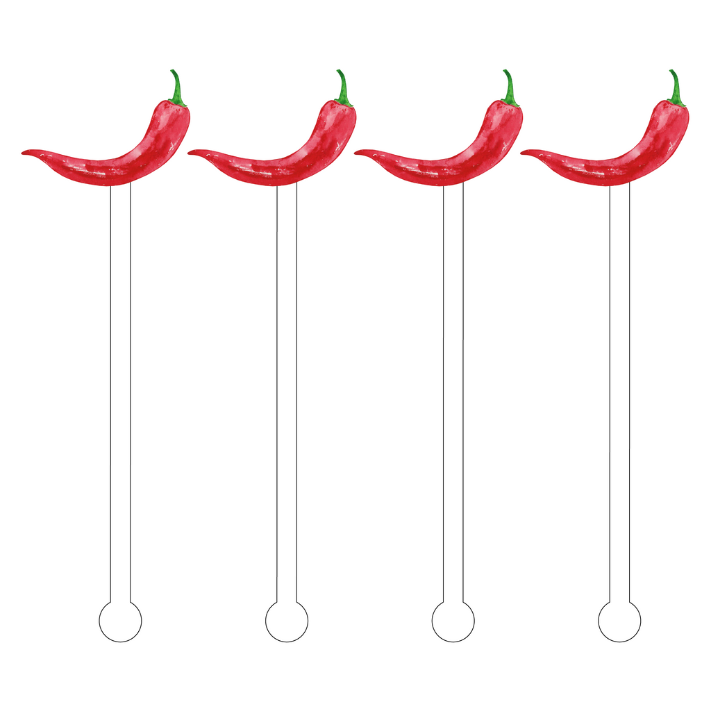 SPICY RED PEPPER ACRYLIC STIR STICKS
