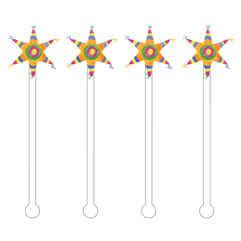 PINATA STAR ACRYLIC STIR STICKS