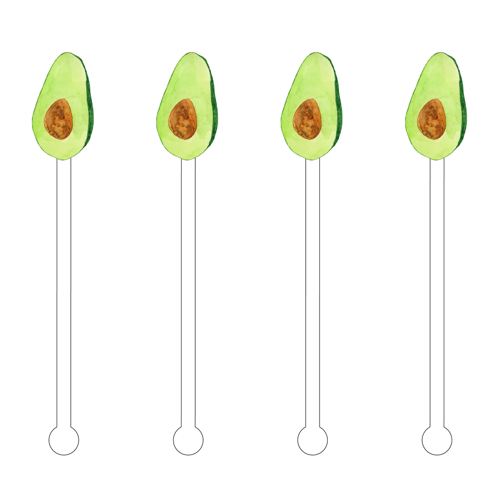 HASS AVOCADO ACRYLIC STIR STICKS