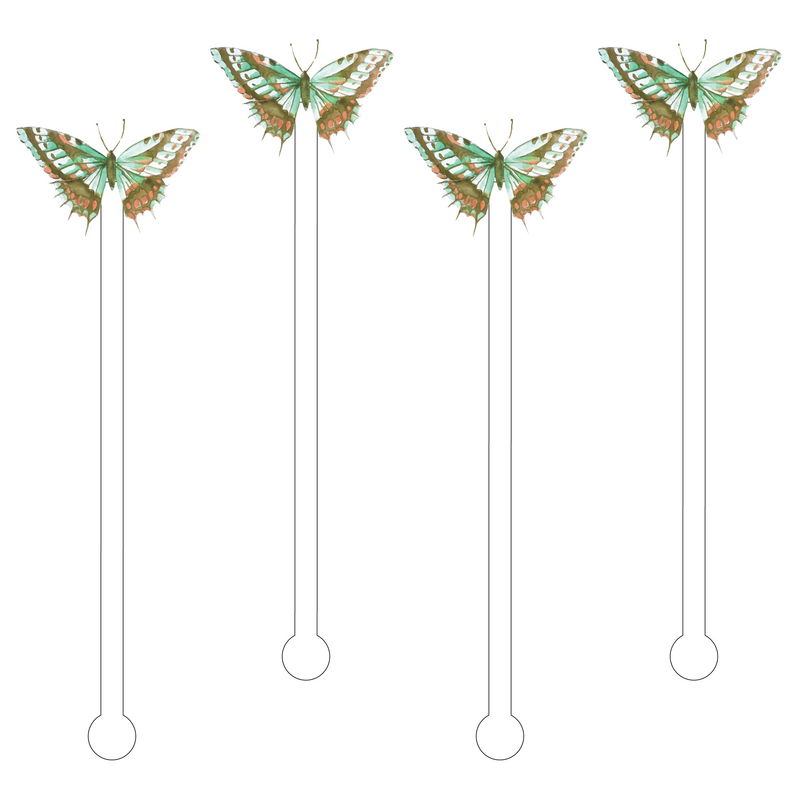 BOBBY SAGE BUTTERFLY ACRYLIC STIR STICKS
