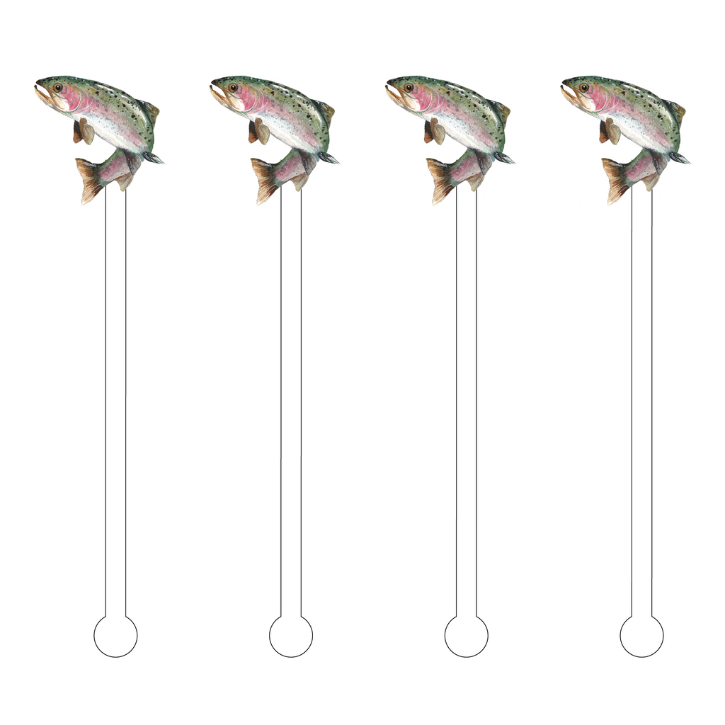 TROUT ACRYLIC STIR STICKS*