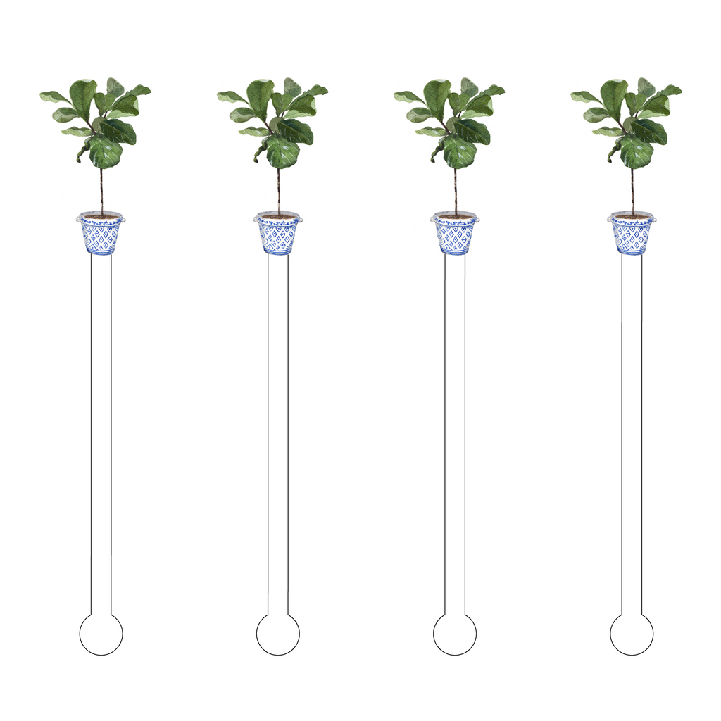 FIDDLE LEAF FIG ACRYLIC STIR STICKS*