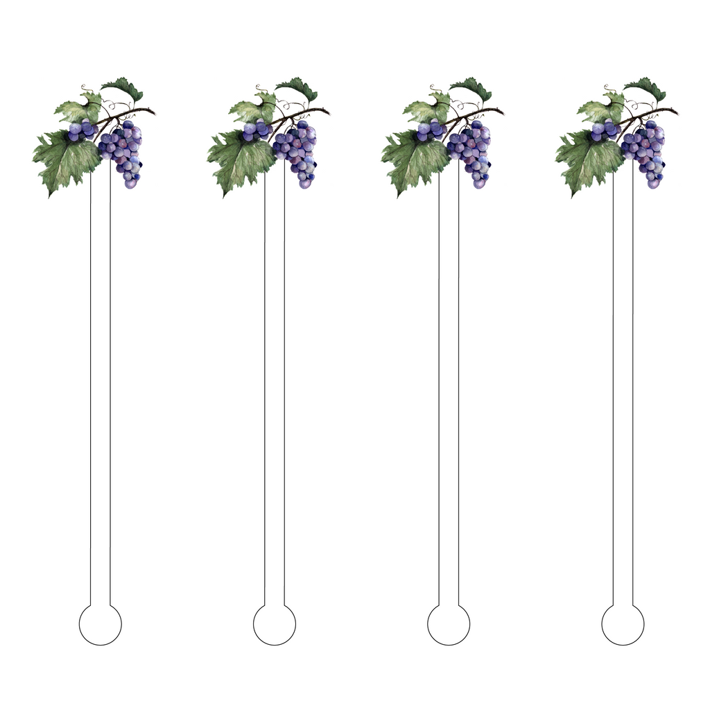 GRAPES ACRYLIC STIR STICKS*