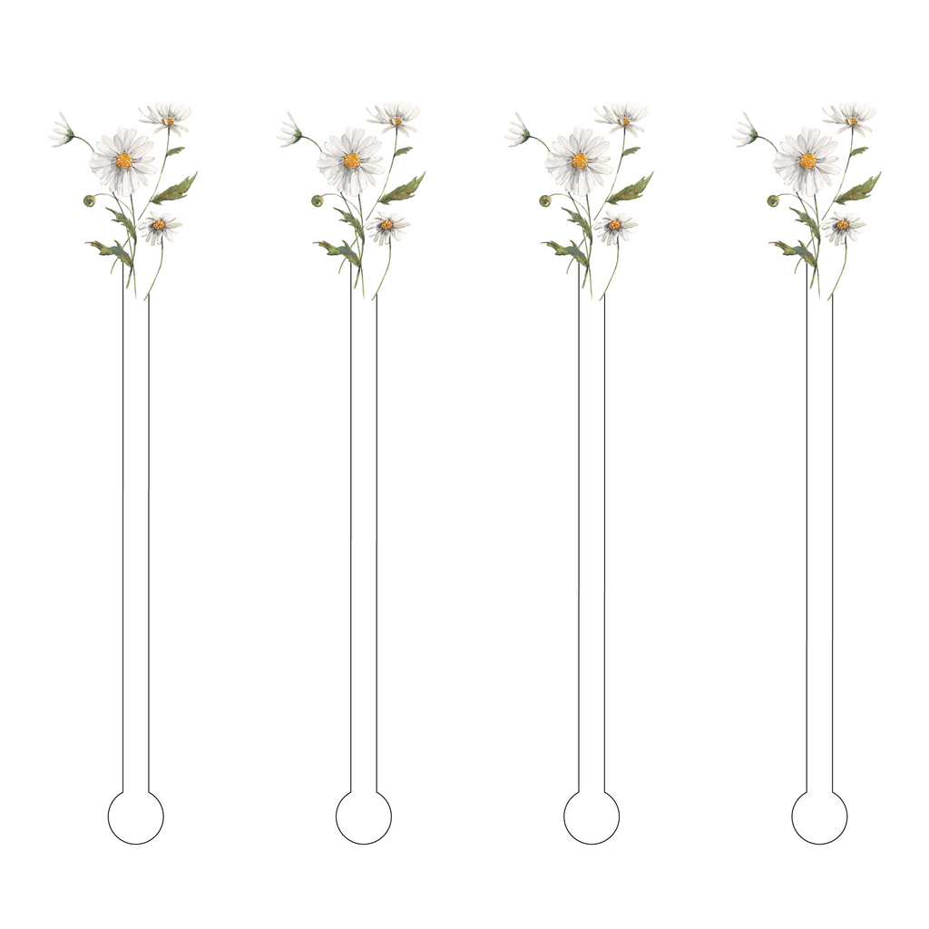 DAISIES ACRYLIC STIR STICKS*