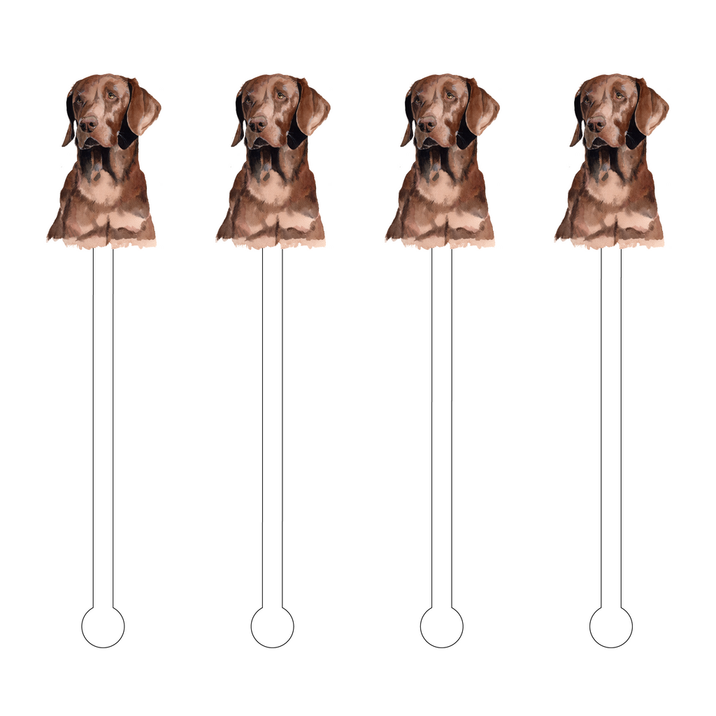 CHOCOLATE LAB ACRYLIC STIR STICKS*