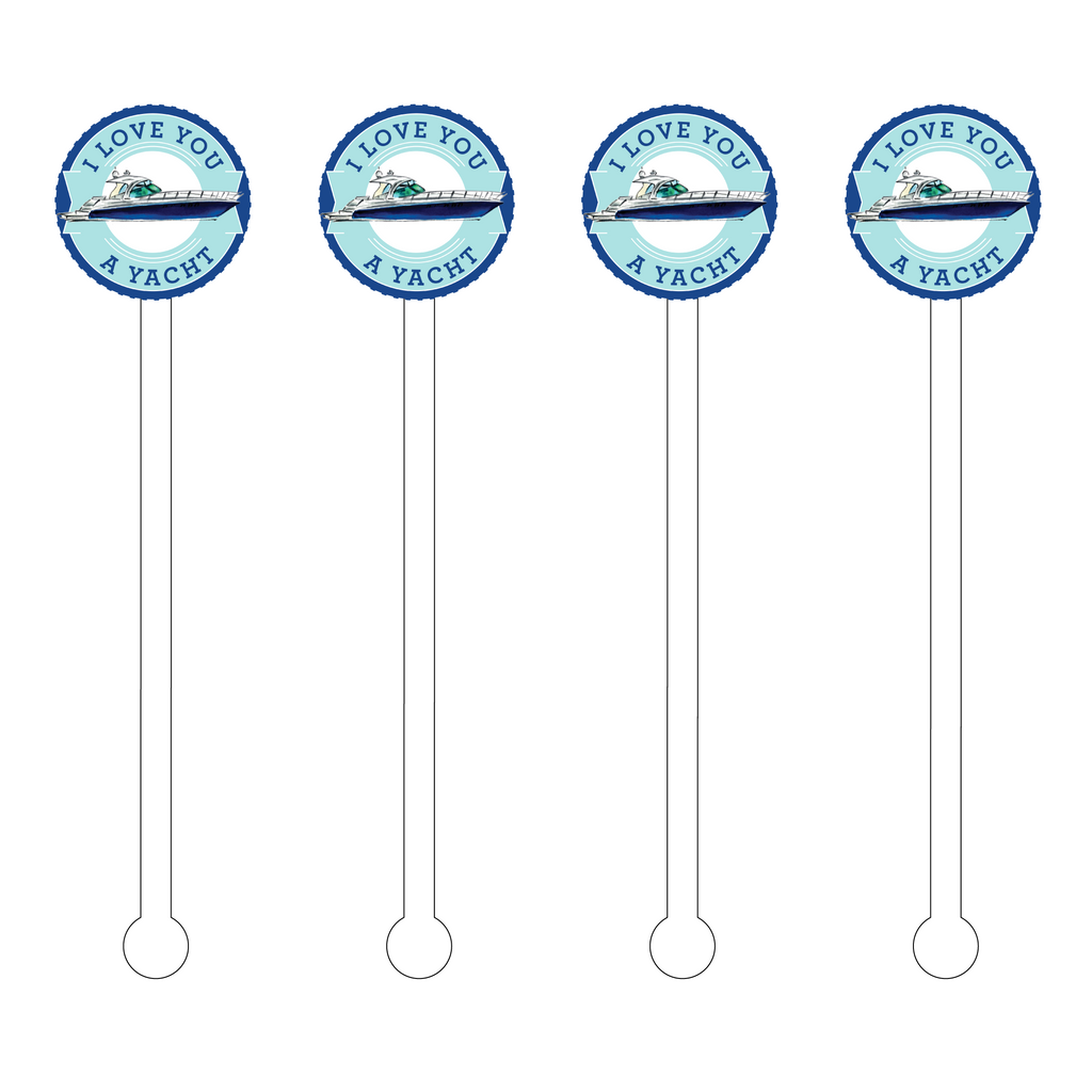I LOVE YOU A YACHT ACRYLIC STIR STICKS