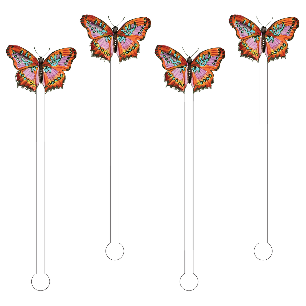 LE CHIC BUTTERFLY ACRYLIC STIR STICKS