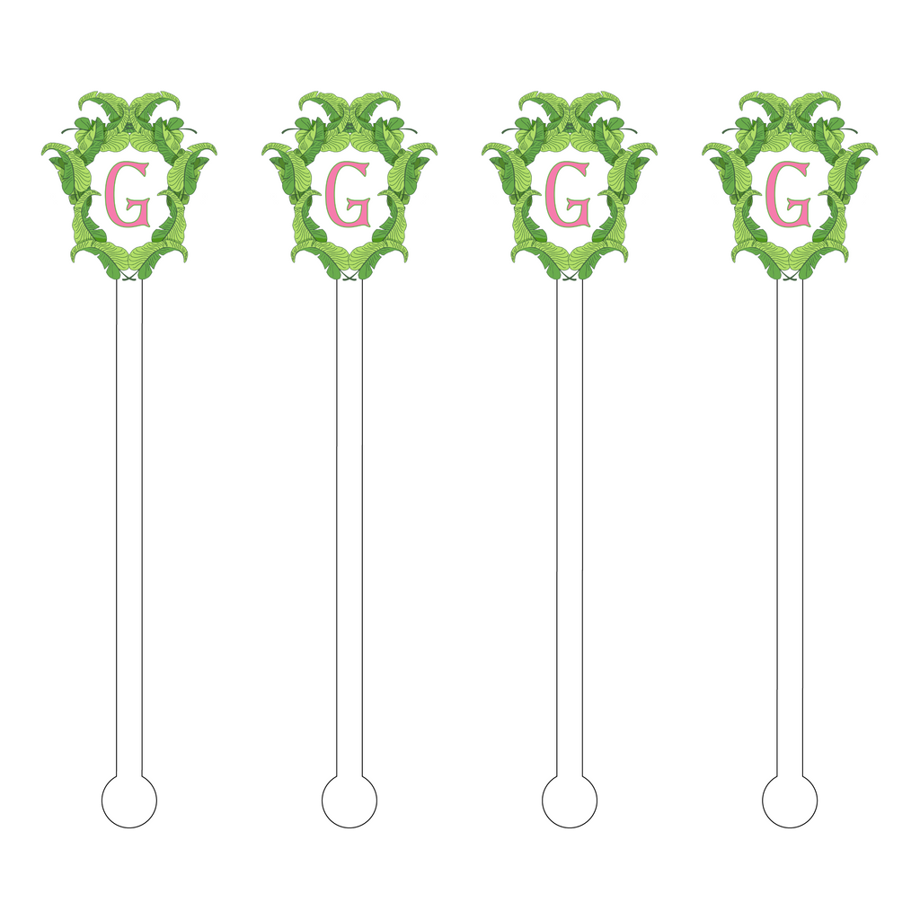 'G' PALM CREST ACRYLIC STIR STICKS