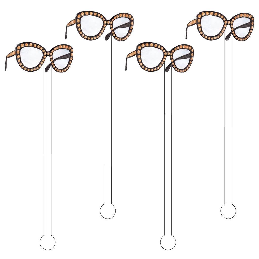 BUTTERFLY BAUBLE SUNGLASSES ACRYLIC STIR STICKS