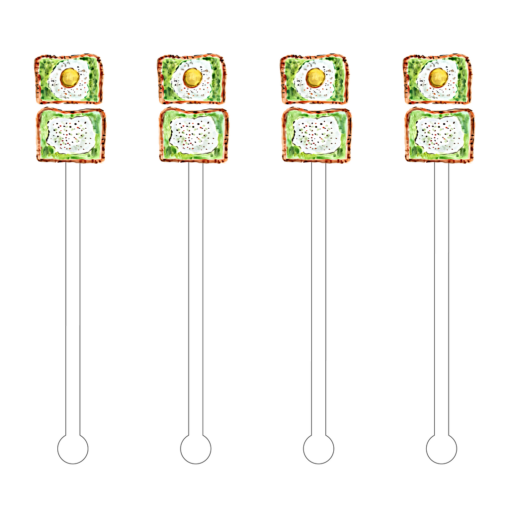 AVOCADO TOAST ACRYLIC STIR STICKS