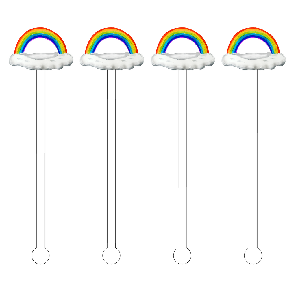RAINBOW FLOATY ACRYLIC STIR STICKS