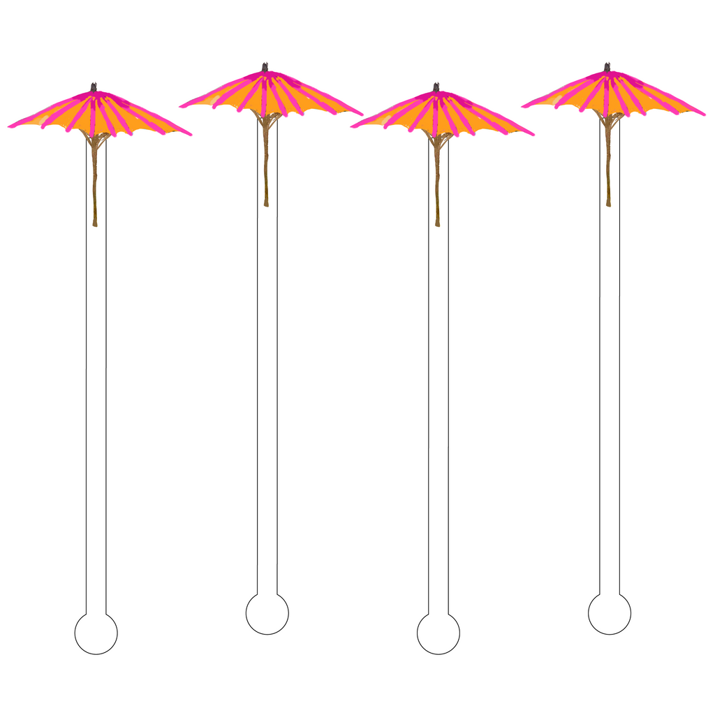 CITRUS AUBERGINE PATIO UMBRELLA ACRYLIC STIR STICKS