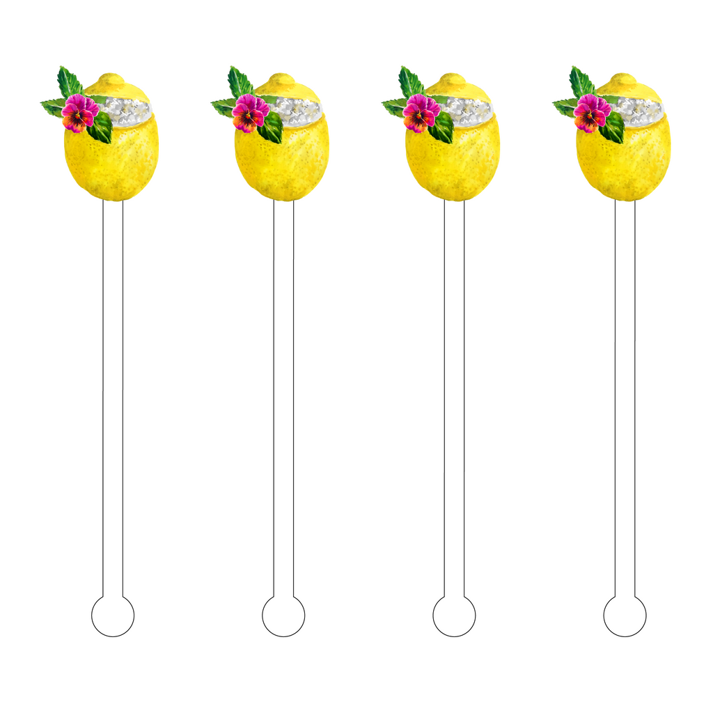 LEMON QUENCHER ACRYLIC STIR STICKS