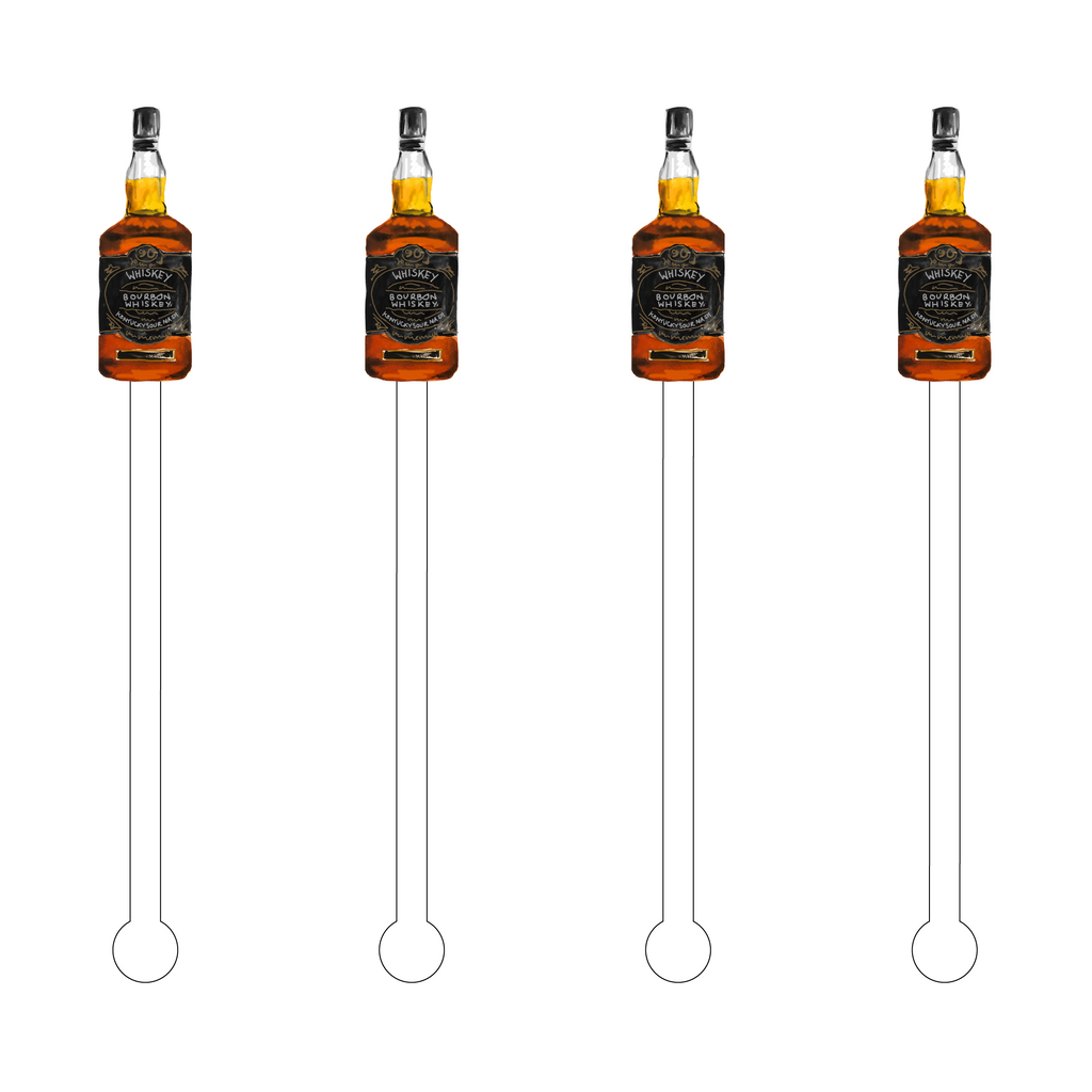 BOURBON WHISKEY ACRYLIC STIR STICKS