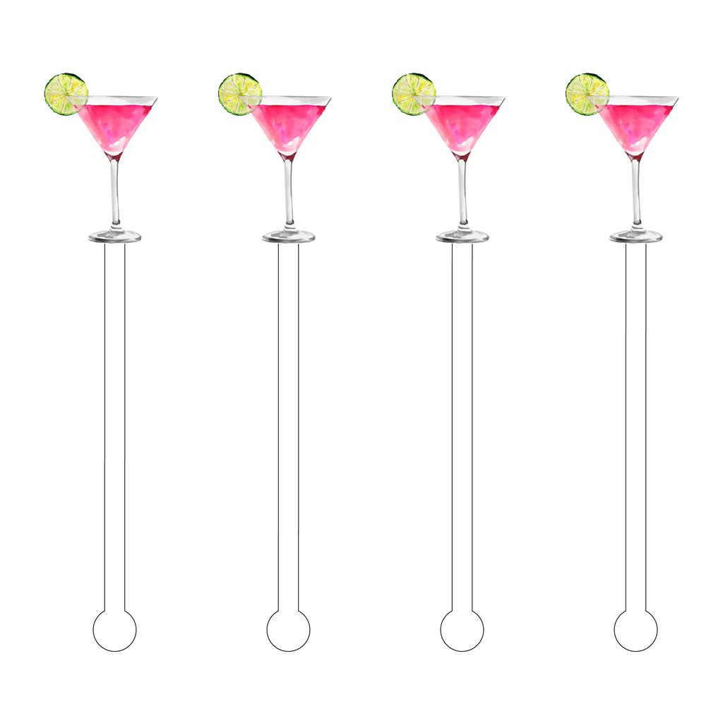 COSMOPOLITAN ACRYLIC STIR STICKS