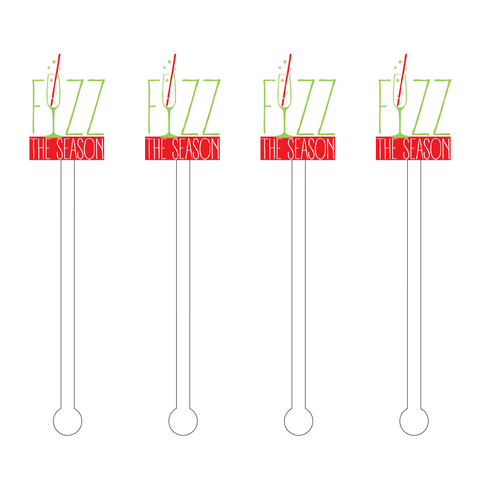 CHRISTMAS 'NICE' LIST ACRYLIC STIR STICKS COMBO