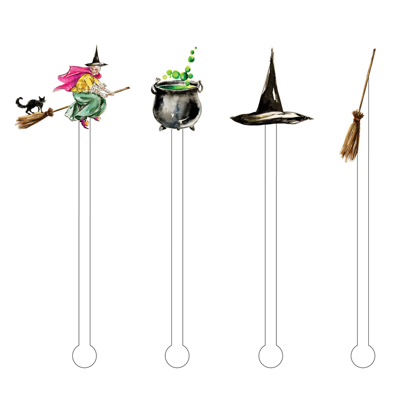A WITCH AND HER THINGS ACRYLIC STIR STICKS COMBO