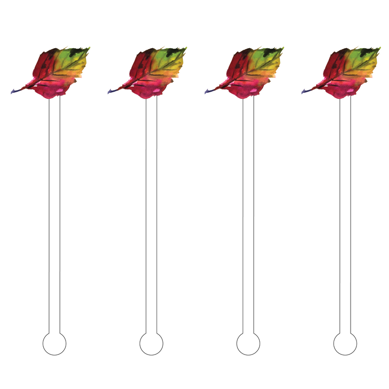 LEAF OF FALL ACRYLIC STIR STICKS