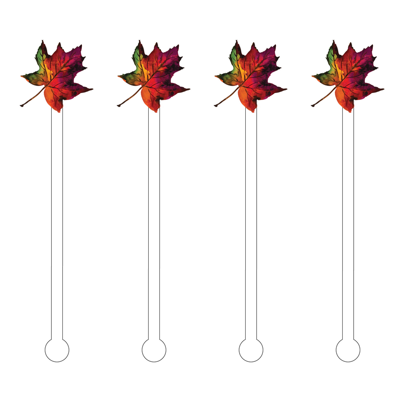 FALL LEAF ACRYLIC STIR STICKS