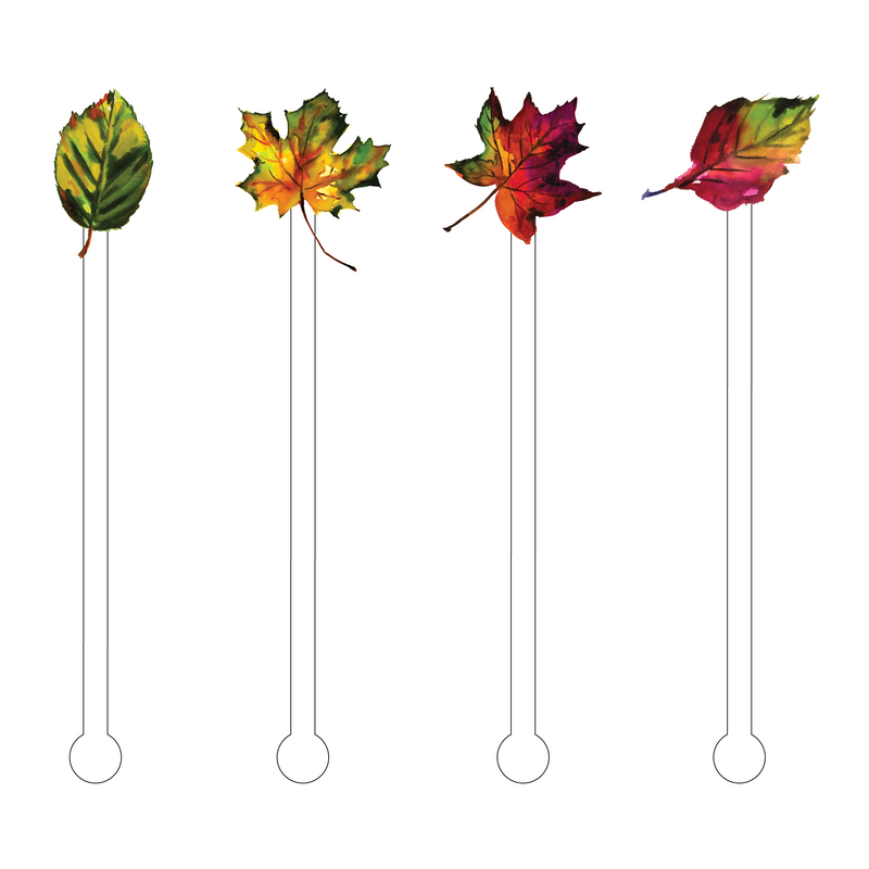 FALL LEAVES ACRYLIC STIR STICKS COMBO