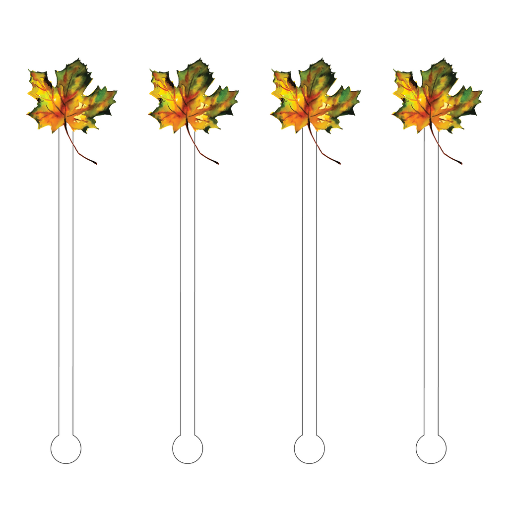 AUTUMN LEAF ACRYLIC STIR STICKS