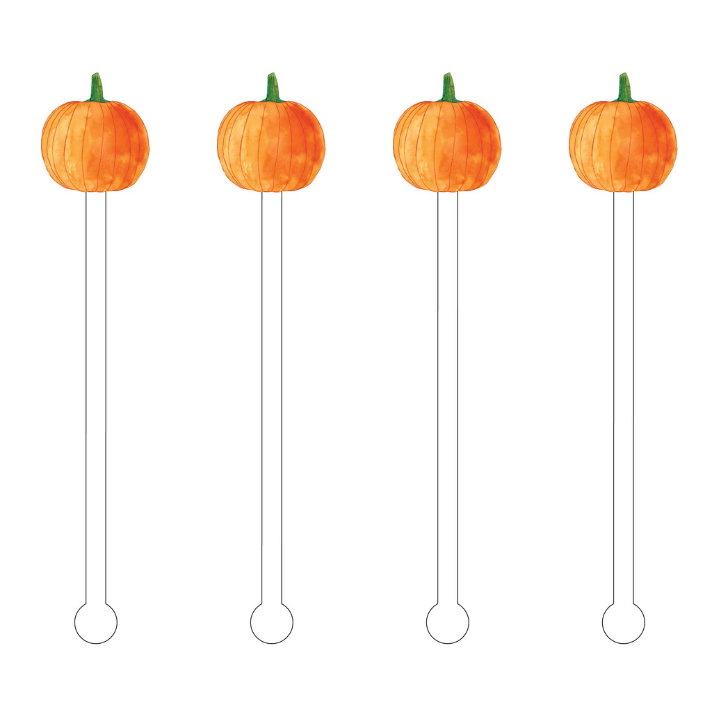 PUMPKIN ACRYLIC STIR STICKS