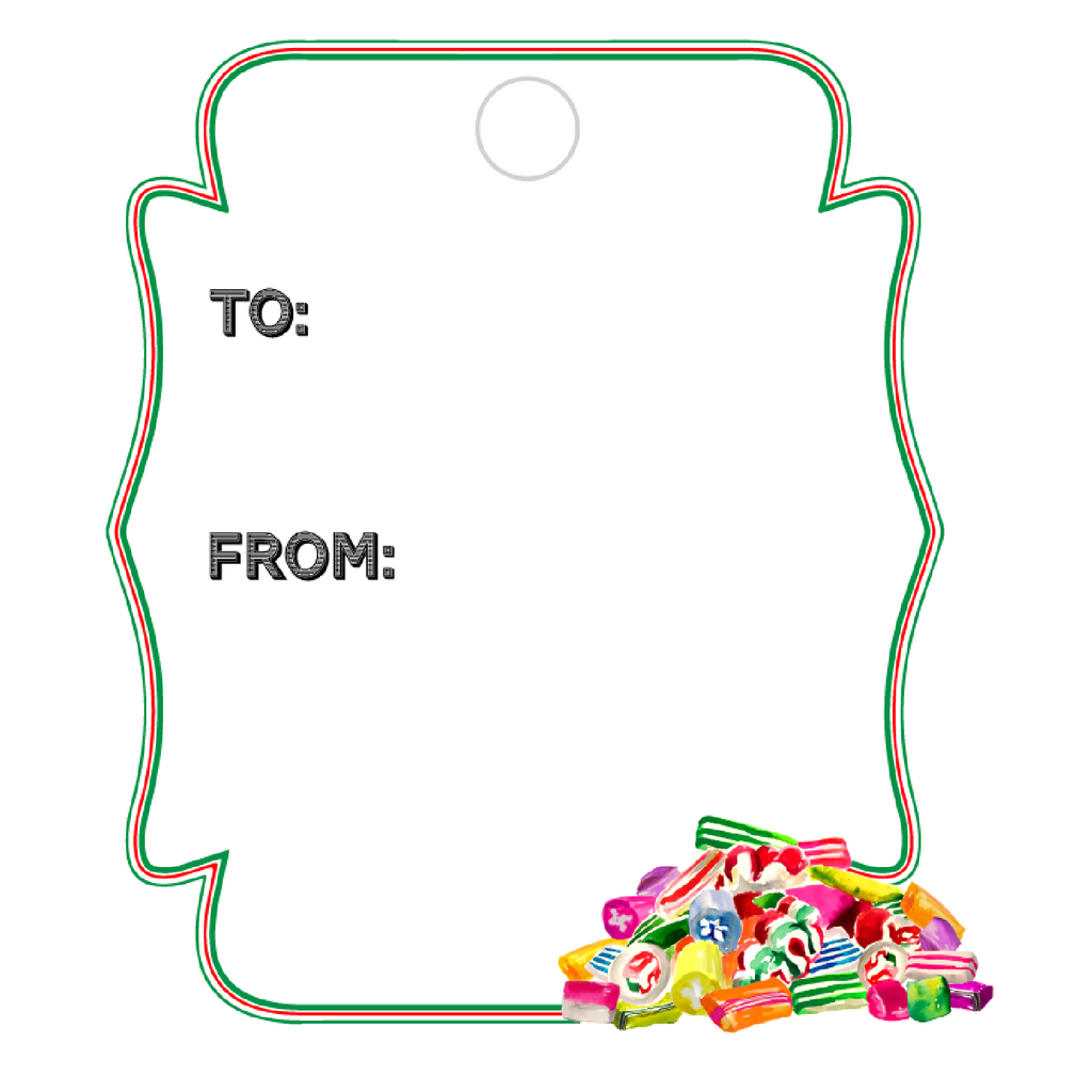 OLD FASHIONED CANDY WRITABLE ACRYLIC GIFT TAG
