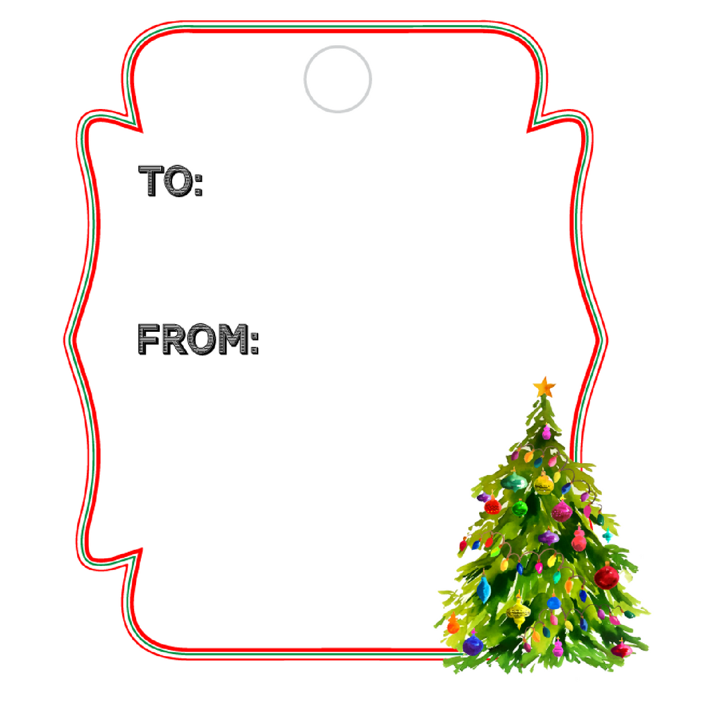 CHRISTMAS TREE WRITABLE ACRYLIC GIFT TAG
