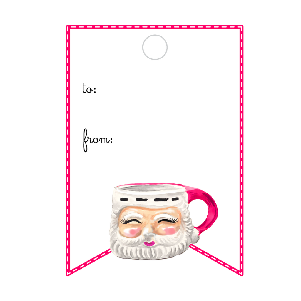JUST JOLLY SANTA WRITABLE ACRYLIC GIFT TAG