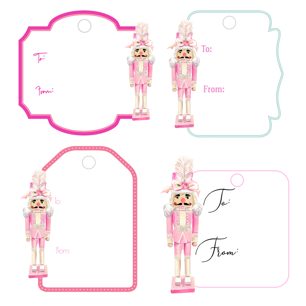 COUTURE NUTCRACKER WRITABLE ACRYLIC GIFT TAGS COMBO