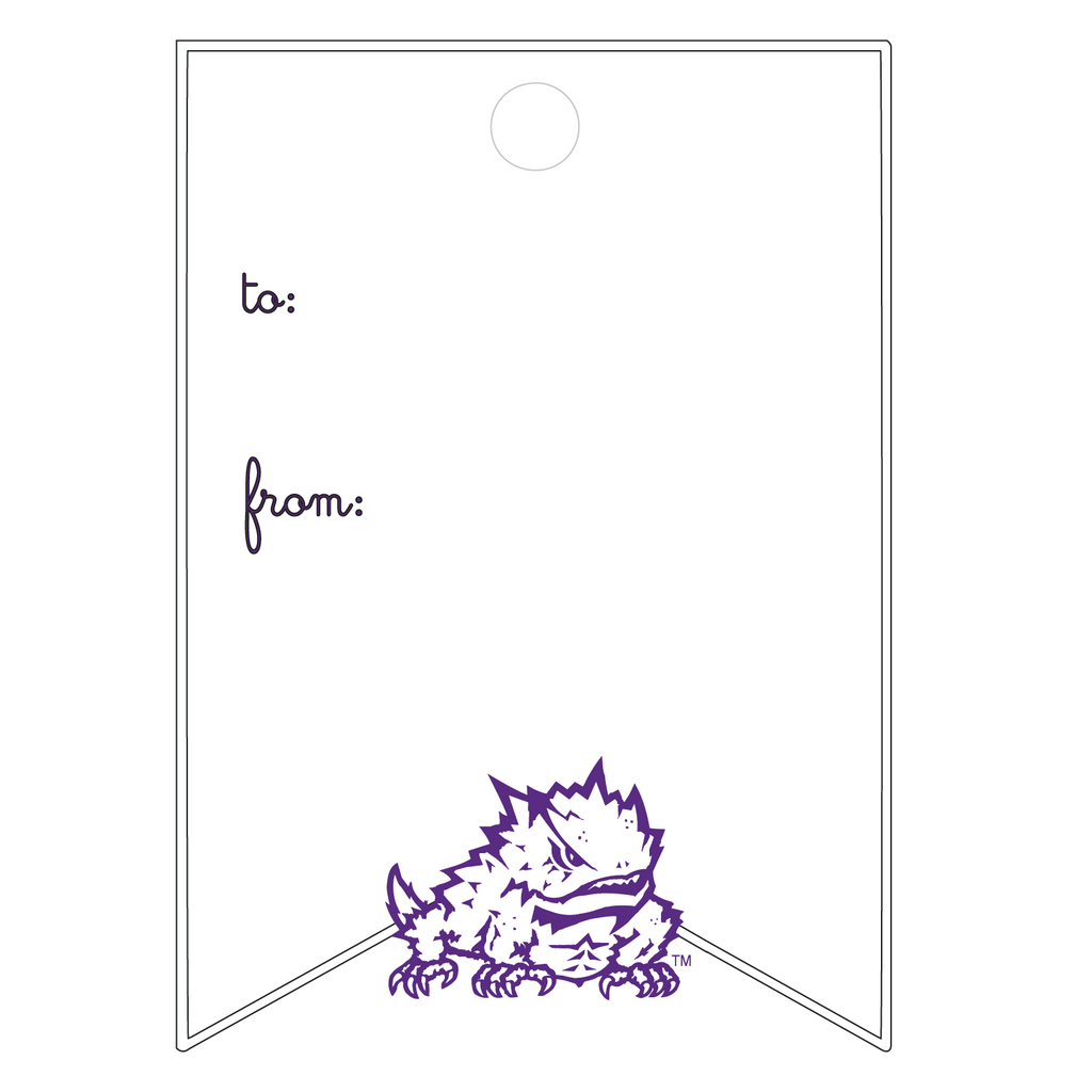 XMAS ATHLETIC FROG WRITABLE ACRYLIC GIFT TAG