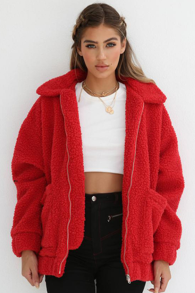 Teddy Bear Jacket (Red)