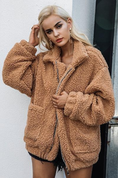 Teddy Bear Jacket (Camel)