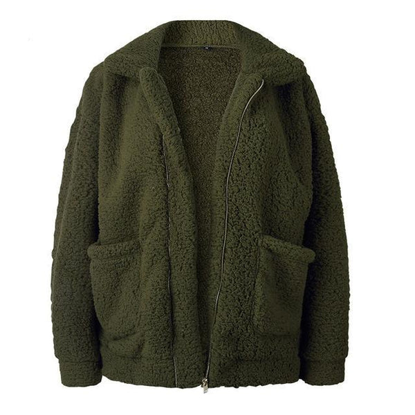 Teddy Bear Jacket (Army Green)