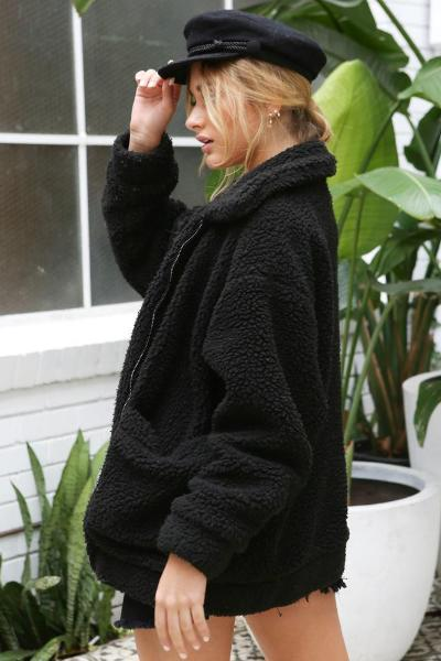 Teddy Bear Jacket (Black)
