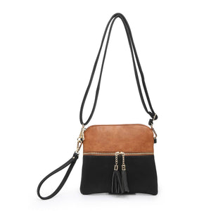 M1785 Monogrammable Tassel Zip Crossbody