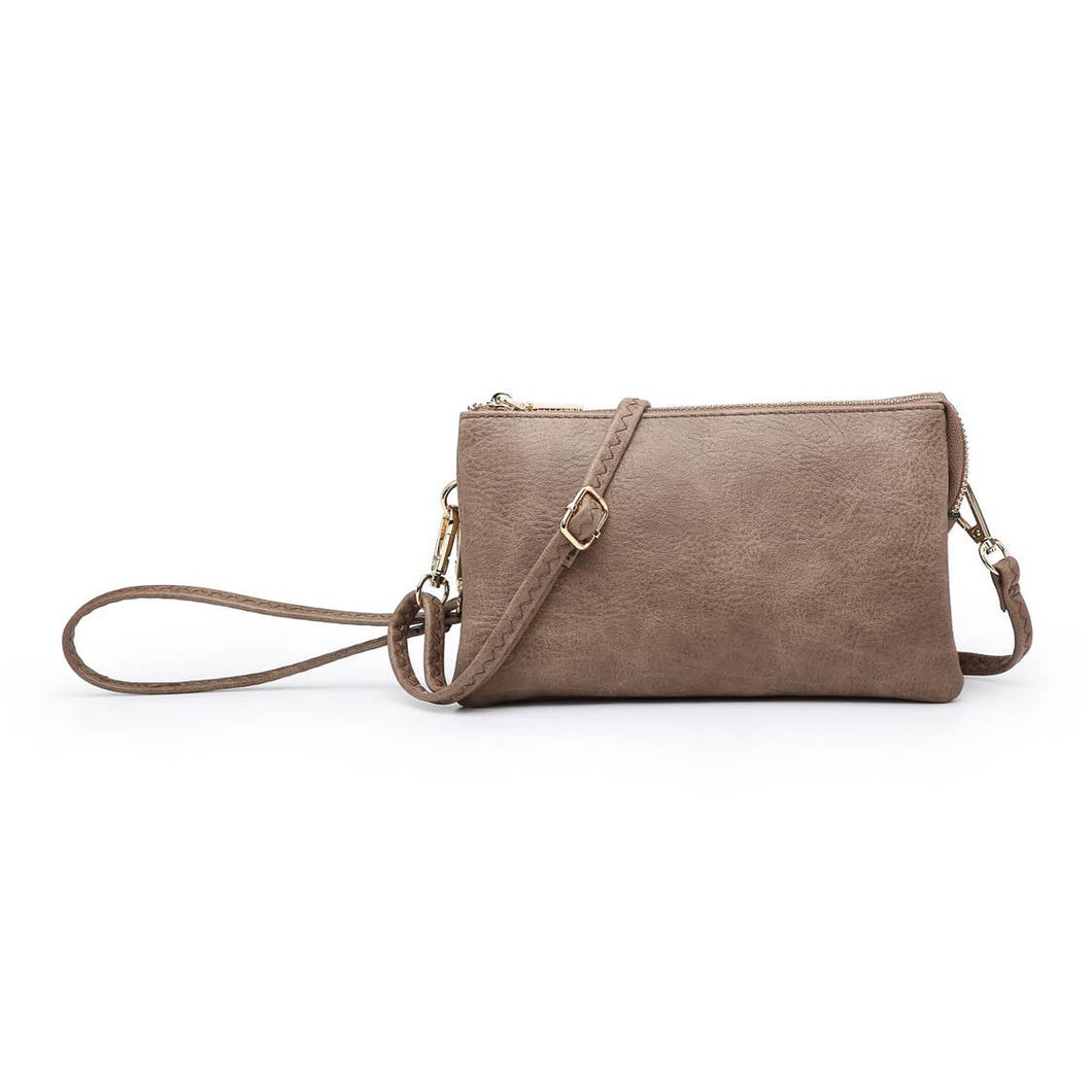 Riley Clay 3 Compartment Crossbody/Wristlet