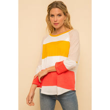 Load image into Gallery viewer, Color Block Raglan Top