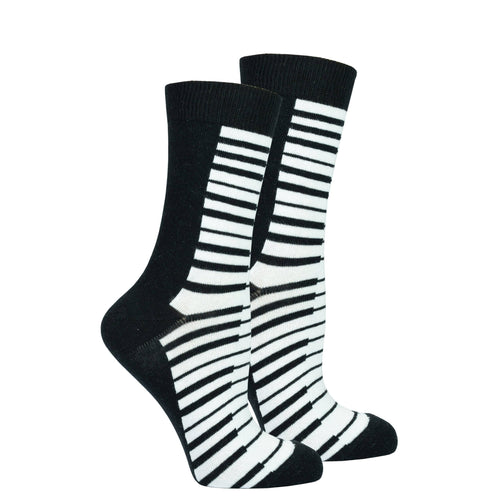 Women's Piano Crew Socks