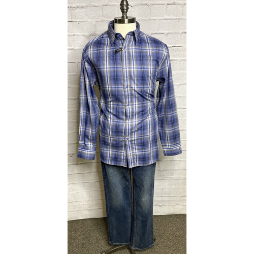 Wrinkle Resistant Blue/Gray Multi Plaid Woven