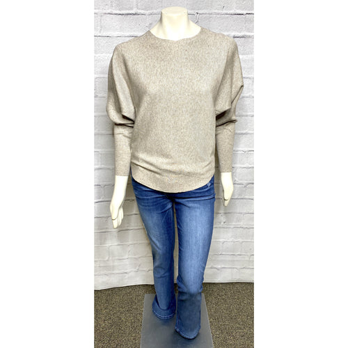 Taupe Scoop Bottom Dolman