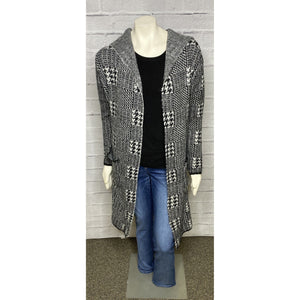 Hounds Tooth Sweater Cardigan