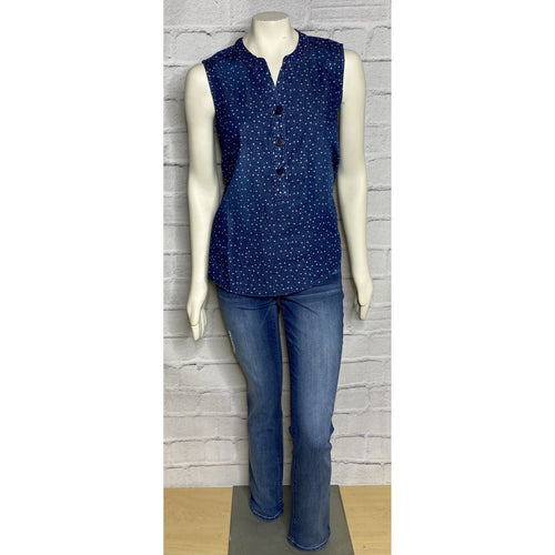 Denim Button Star Tank